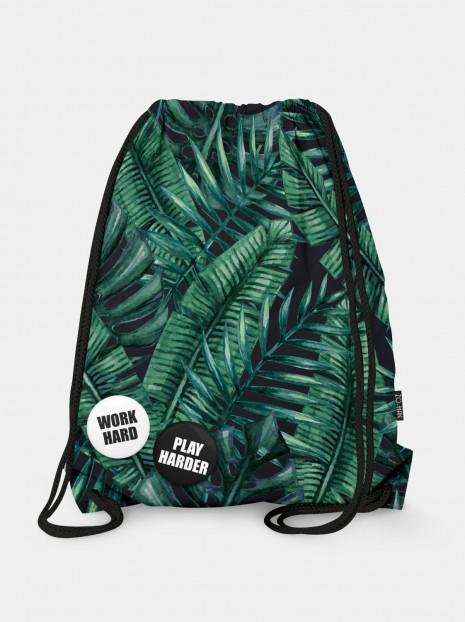 Worek Dark Palm Leaves